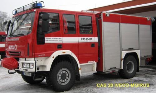 Cisternová automobilová stříkačka CAS 20 IVECO