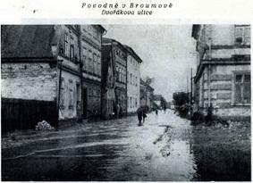 povoden 1927 Dvořákova ulice